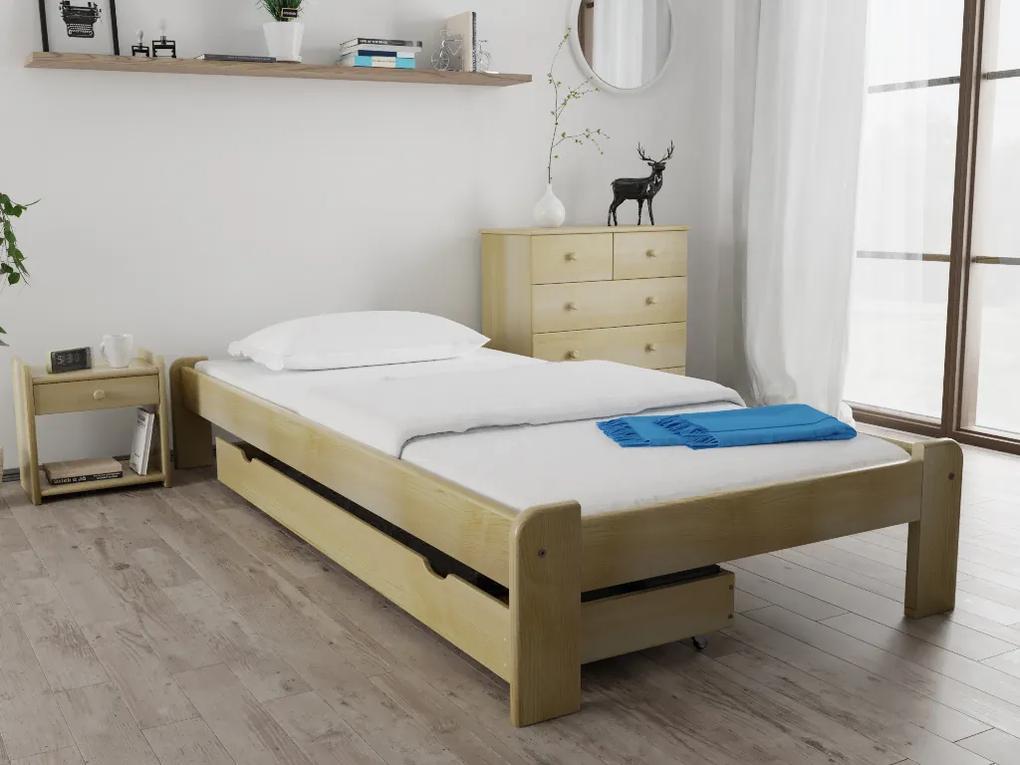 Posteľ Ada 90 x 200 cm, borovica Rošt: S latkovým roštom, Matrac: S matracom Economy 10 cm