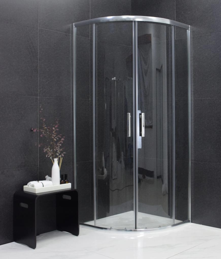 MAXMAX Sprchovací kút ARIO transparent - štvrťkruh 80x80 cm 80 čtvercový