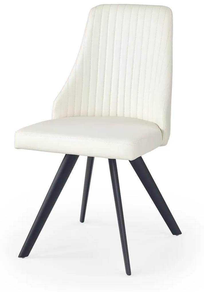 HALMAR K206 jedálenská stolička biela / čierna