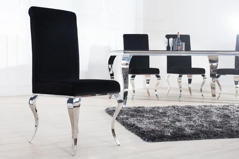 Jedálenská stolička Modern barock čierna