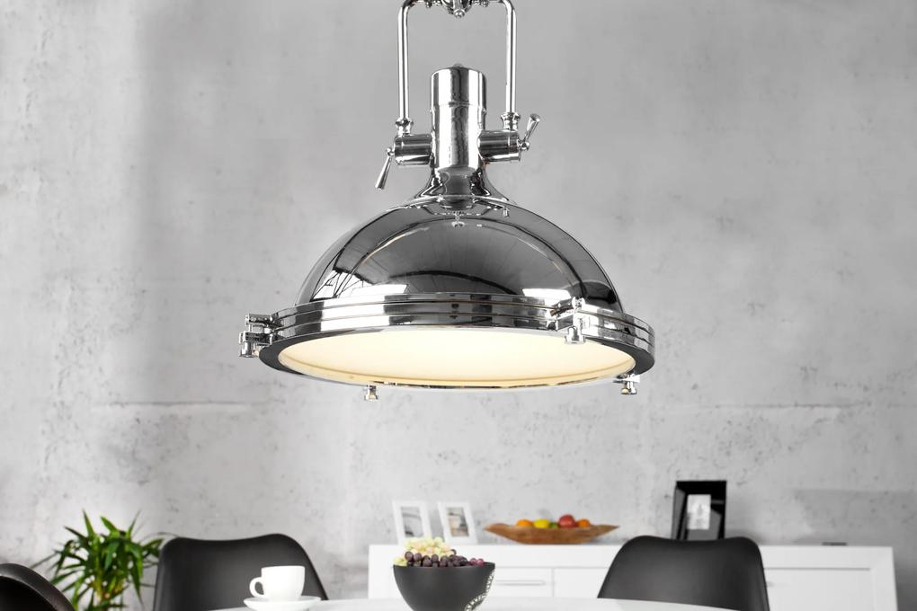 Masiv24 - Visiaca lampa INDUSTRIAL 45 cm - chrómová