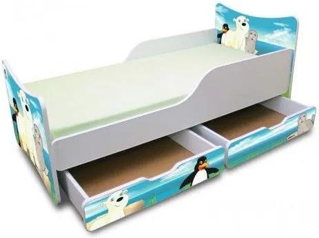 MAXMAX Detská posteľ 180x80 cm so zásuvkou - ĽADOVÝ KAMARÁTI 180x80 pre všetkých ÁNO