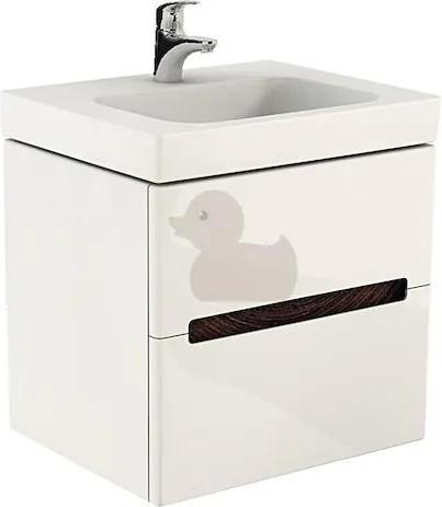 Kúpeľňová skrinka pod umývadlo Kolo Modo 79x48x55 cm biela lesk 89426000