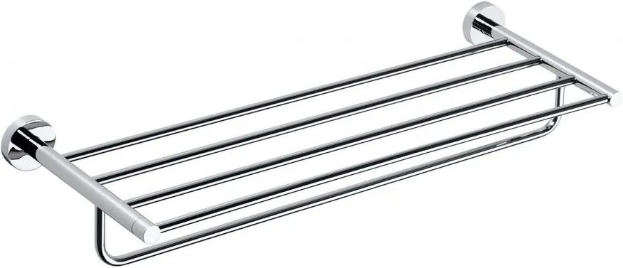 Omega 104105072 polička na uteráky s hrazdou 650mm, chróm