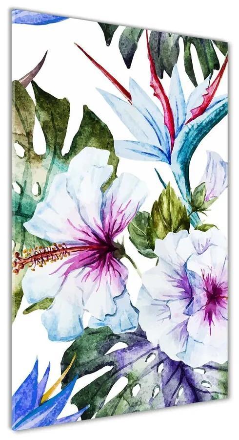 Foto obraz akrylové sklo Havajské kvety pl-oa-70x140-f-83808650