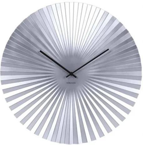Hodiny SENSU stříbrné,40 cm Present time KA5657FH