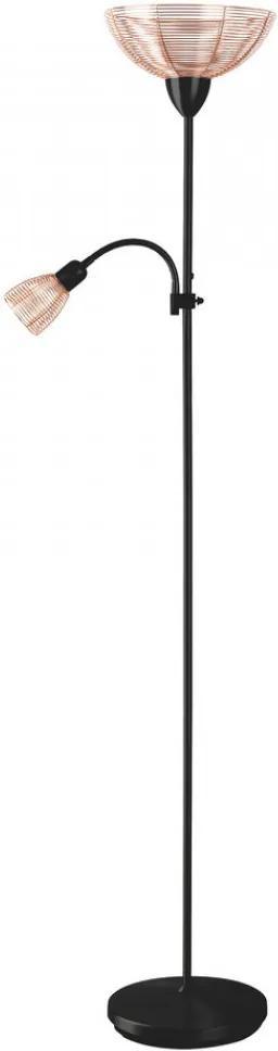 Rábalux Ezra 4184 Stojanové Svietidlá s Bočným Svetlom čierny meď 1 x E14 max. 40W 181,5 x 44 x 28 cm