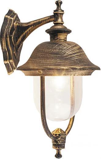 Rábalux 8696 Vonkajšie Nástenné Lampy antická zlatá priesvitný E27 1X MAX 100W 24,8 x 49,2 x 25,7 cm
