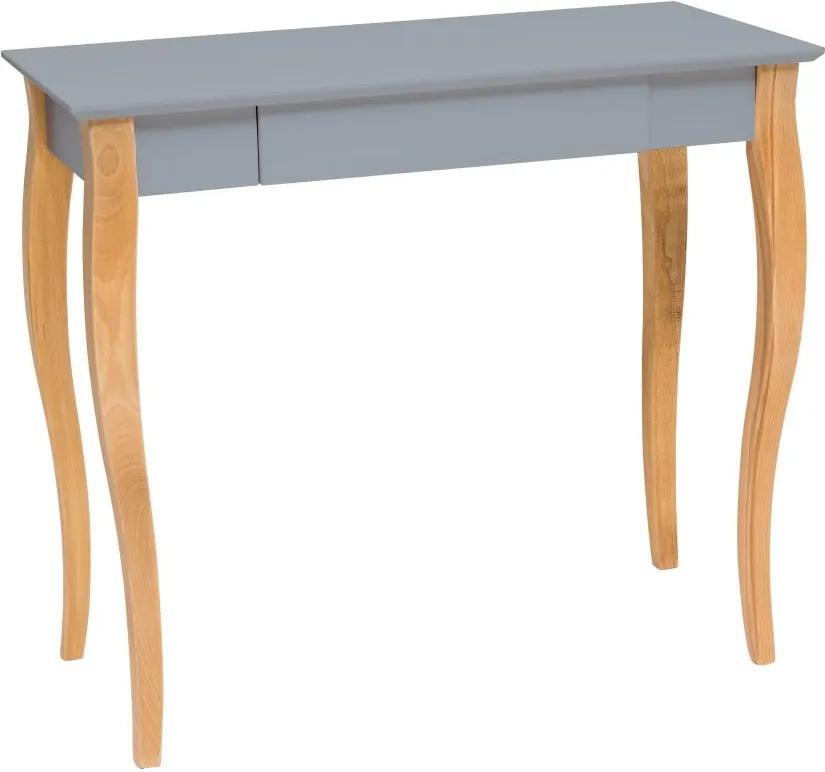 Tmavosivý písací stôl Ragaba Lillo, dĺžka 85 cm