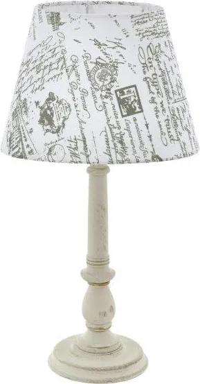 Eglo Vintage 43242 LARACHE 1 Stolová lampa E14 1X40W biela-patina/šedá, biela