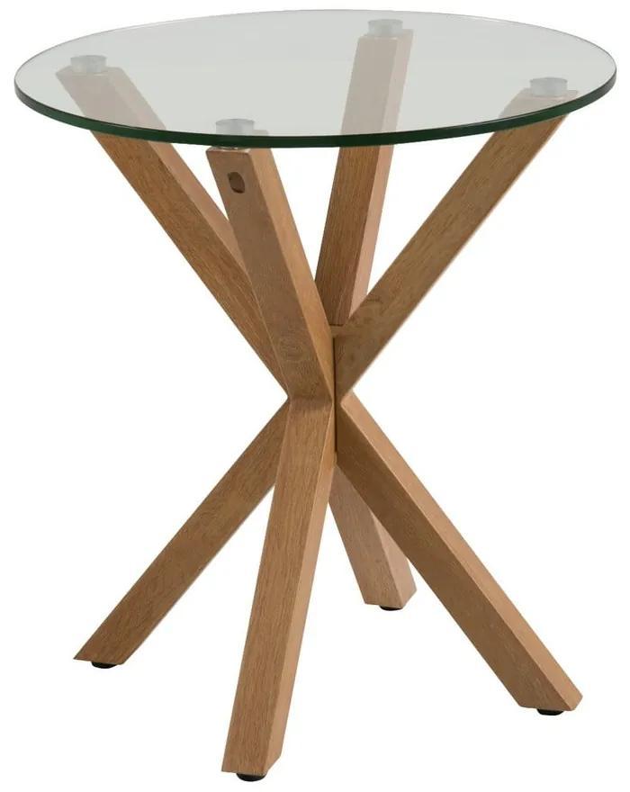 Príručný stolík so sklenenou doskou Actona Heaven, ⌀ 55 cm