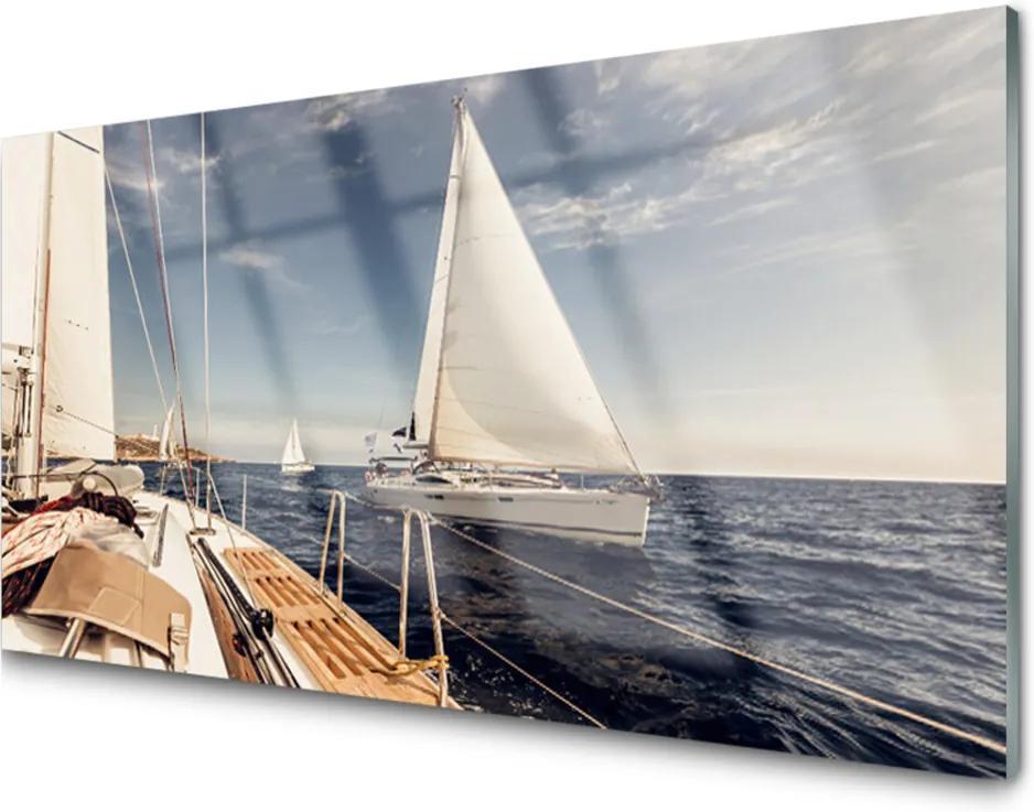 Obraz plexi Loďky More Príroda