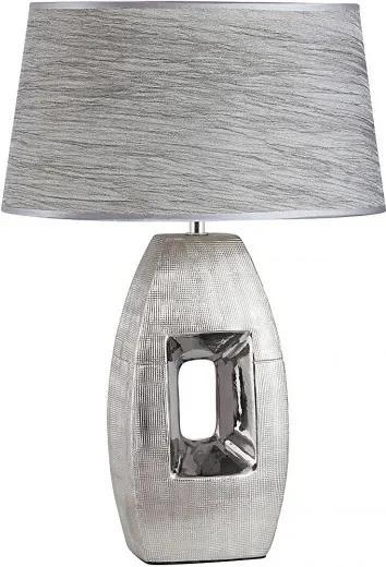 Rábalux 4388 Nočná stolová lampa Leah strieborný keramika E27 MAX 40W IP20