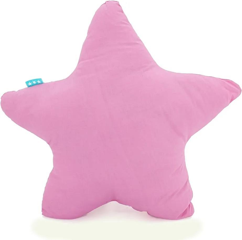 Ružový bavlnený vankúšik Happy Friday Basic Estrella Pink, 50 x 50 cm