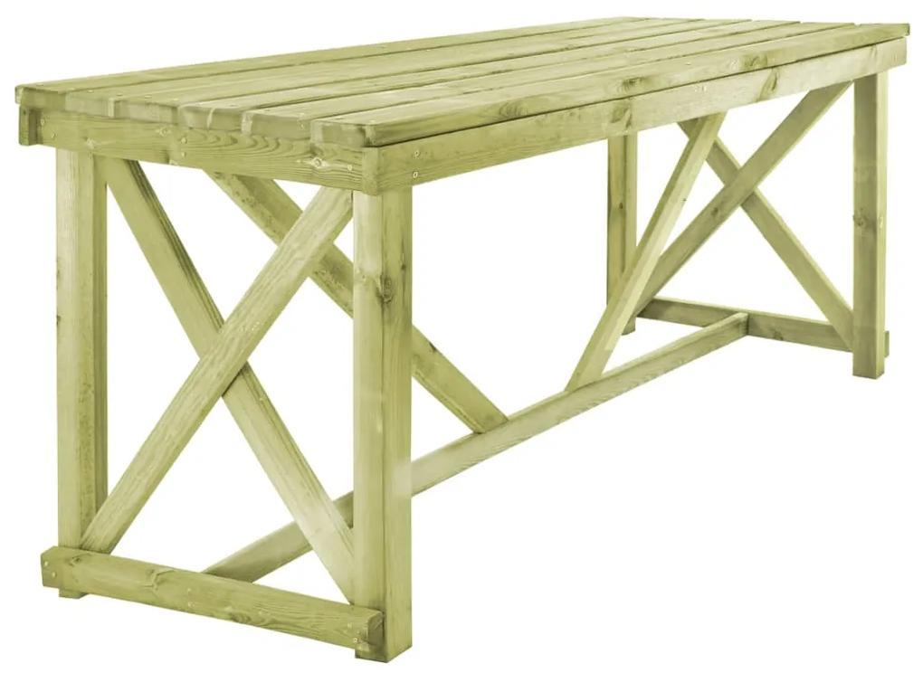 vidaXL Záhradný stôl 160x79x75 cm, drevo