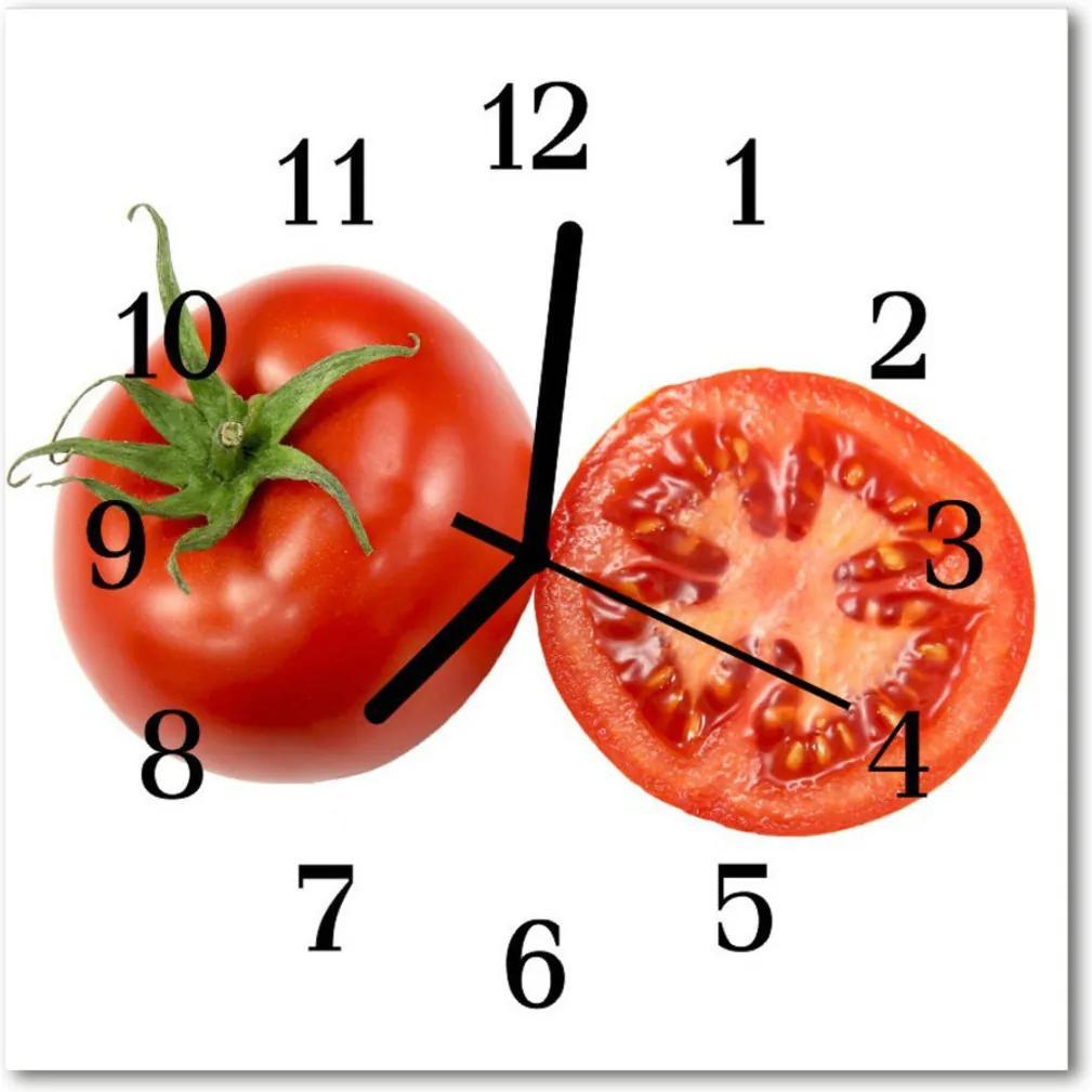 Sklenené hodiny štvorcové  paradajky