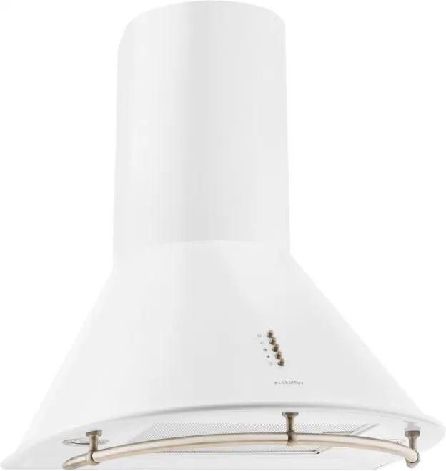 Klarstein Lumio Primo, biely, 60 cm, 430 m3/h, retro komínový odsávač pár, nerez