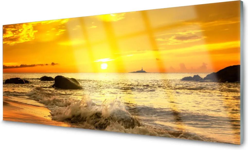 Akrylové obraz Oceán pláž krajina