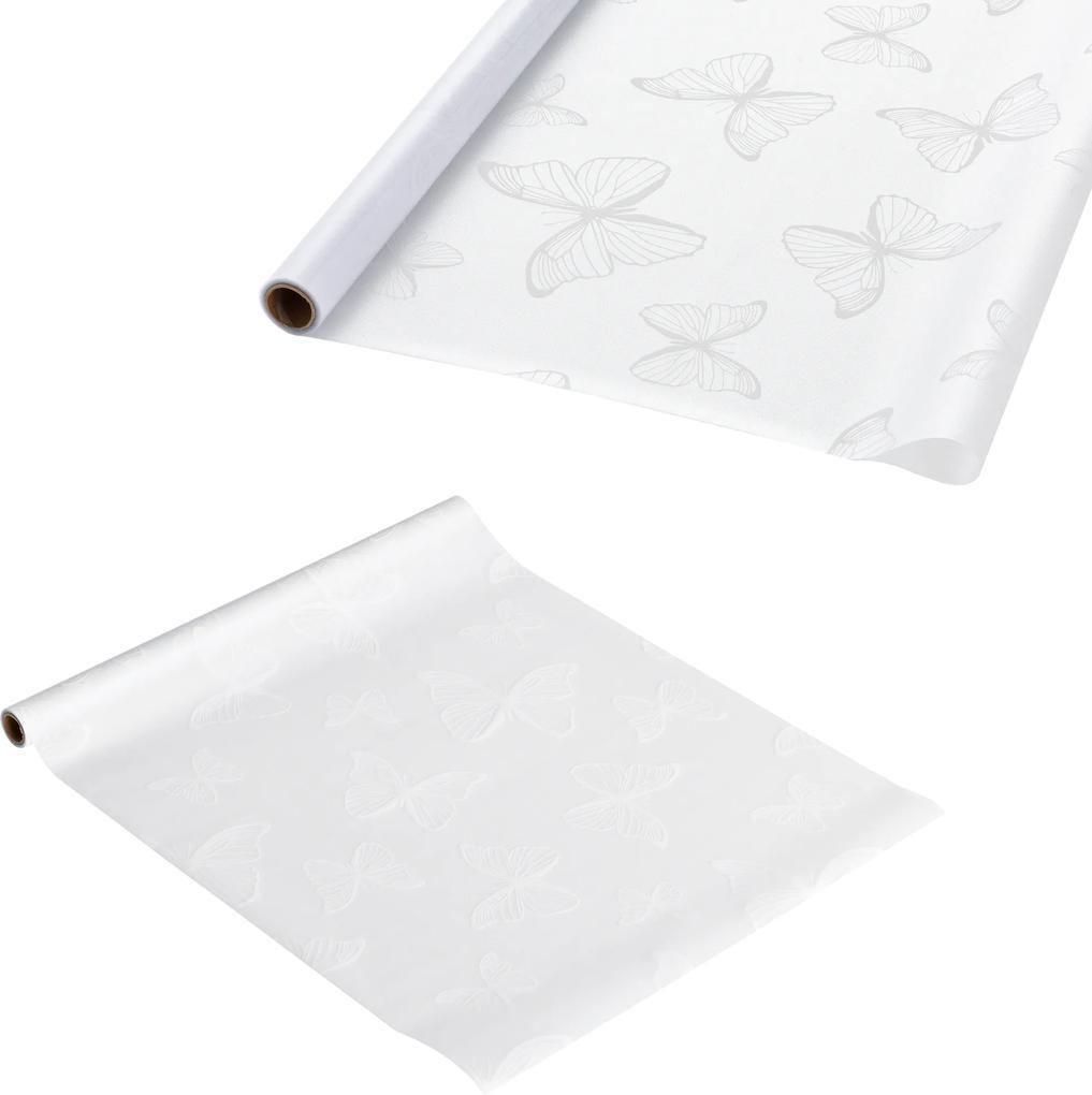 [casa.pro]® Fólia na sklo - statická - 1x50m - motýlí motív