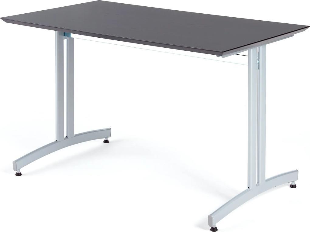 Jedálenský stôl Sanna, 1200x700 mm, čierna / šedá