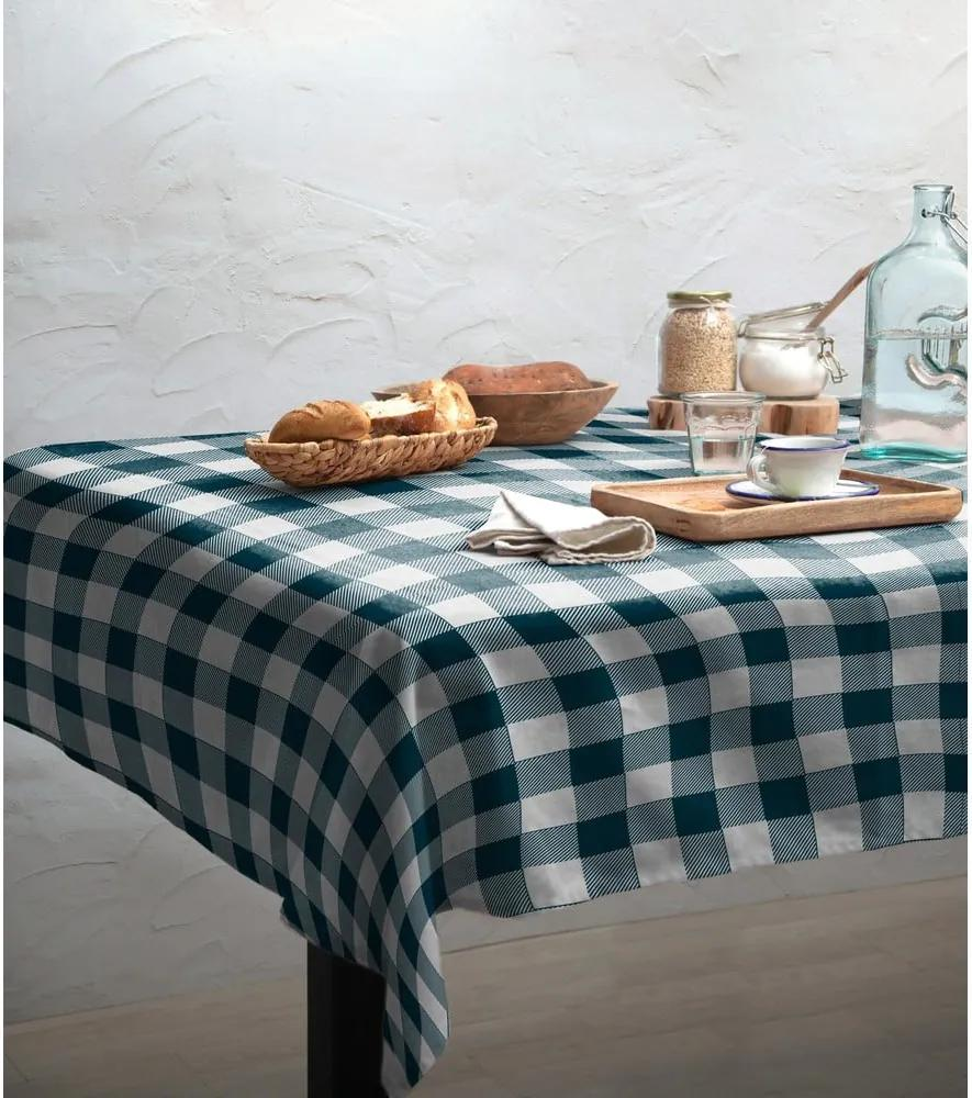 Obrus Linen Couture Turquoise Vichy, 140 x 200 cm