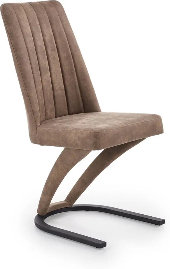 HALMAR K338 jedálenská stolička hnedá / čierna