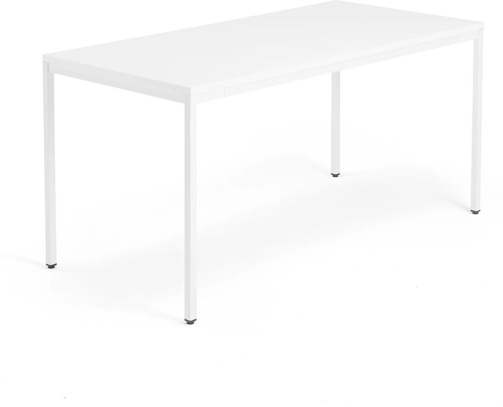 Kancelársky pracovný stôl Modulus, 1600x800 mm, biela/biela