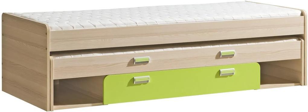 Dětská postel Loreto L16 Loreto : Dekor  Jasan/fialová