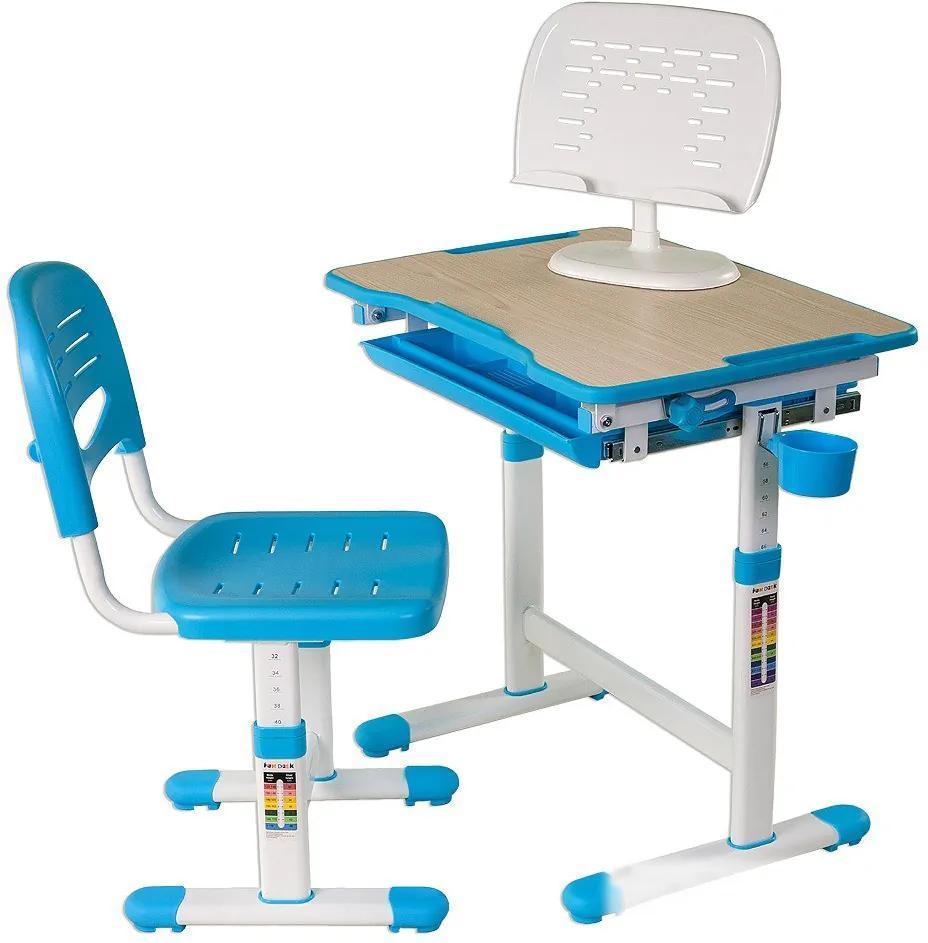 FD Rastúci stôl pre deti Pikolo - Modrý