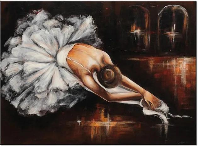 Ručne maľovaný obraz Rozcvička baletky 115x85cm RM2737A_1AS