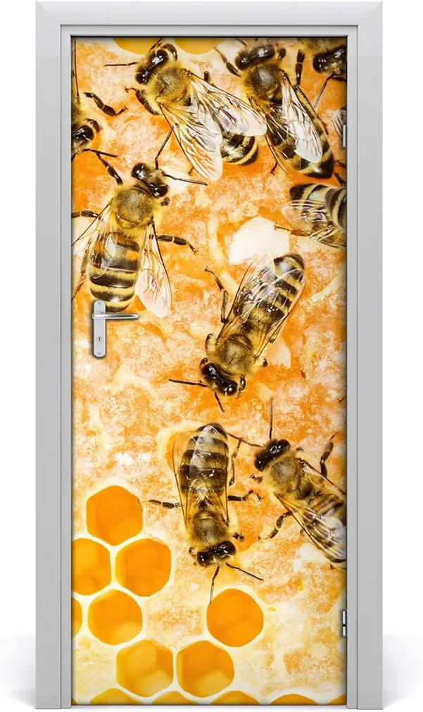 Samolepící fototapeta na dveře Pracující včely