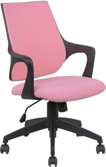 Kancelárska stolička Marika, ružová látka