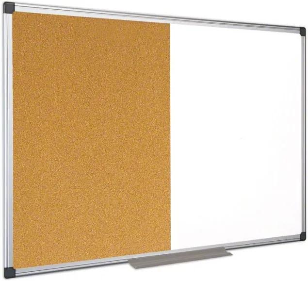 Bi-Office Popisovacia magnetická tabuľa a korková nástenka, 1200 x 900 mm