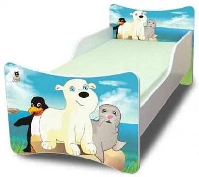 MAXMAX Detská posteľ 200x90 cm - ĽADOVÝ KAMARÁTI 200x90 pre všetkých NIE