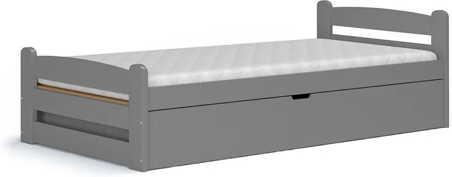 Dávid sivá výklopná posteľ 200x90 bez matraca