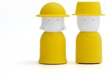 Soľnička a korenička Qualy Mr.Pepper & Mrs. Salt - žltá QL10054-YW