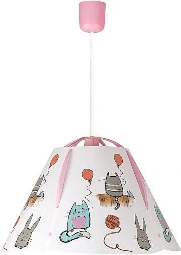 Rábalux Cathy 4567 Detské Závesné Lampy viacfarebné plast E27 1x MAX 60W IP20
