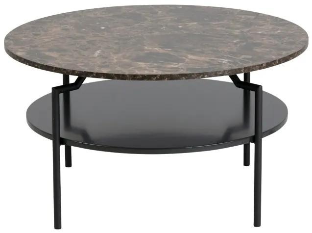 Goldington konferenčný stolík hnedá/čierna