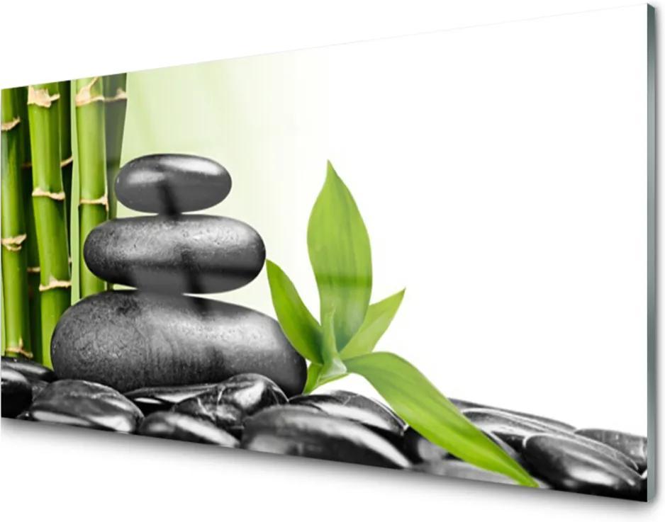 Obraz plexi Bambus Kamene Zen Umenie