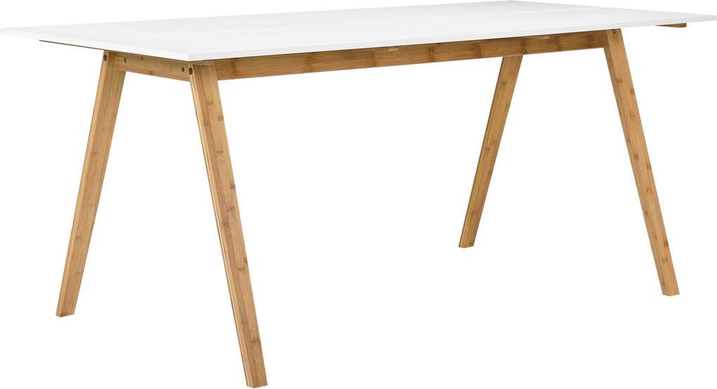 "[en.casa] Jedálenský stôl ""Niko"" HTNT-4302 - 180 x 80 cm - MDF, biely"