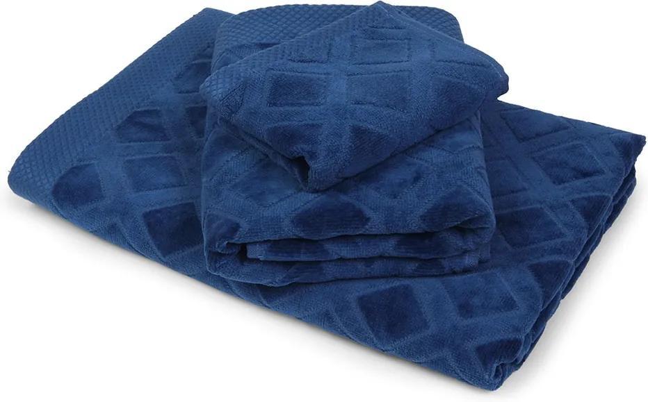 Veľký uterák Charles modrý modra