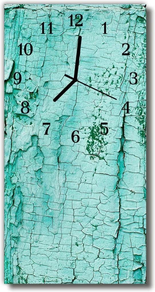 Skleněné hodiny vertikální Zelená kůra stromu přírody