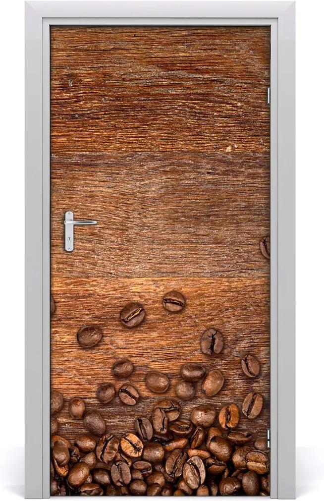 Samolepící fototapeta na dveře Zrnka kávy