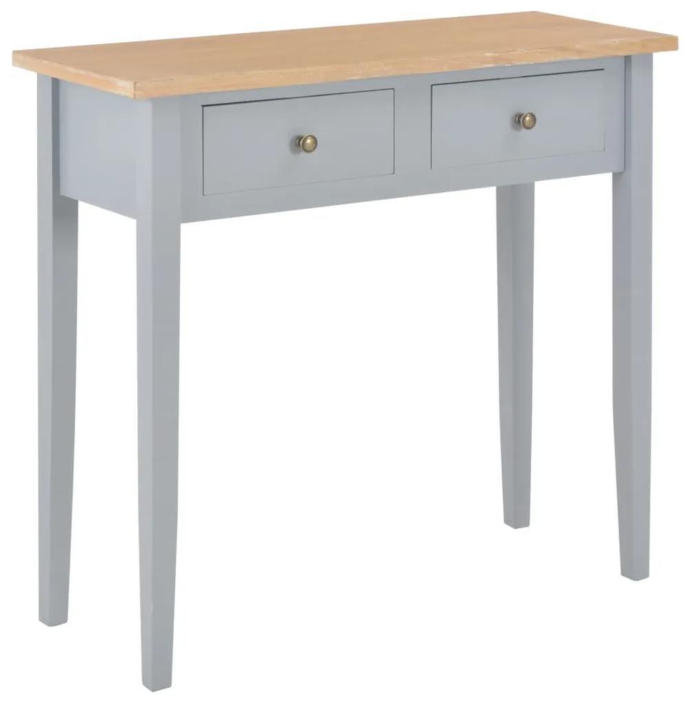 vidaXL Toaletný konzolový stolík, sivý 79x30x74 cm, drevo