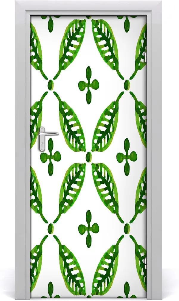Samolepící fototapeta na dveře Zelené listí