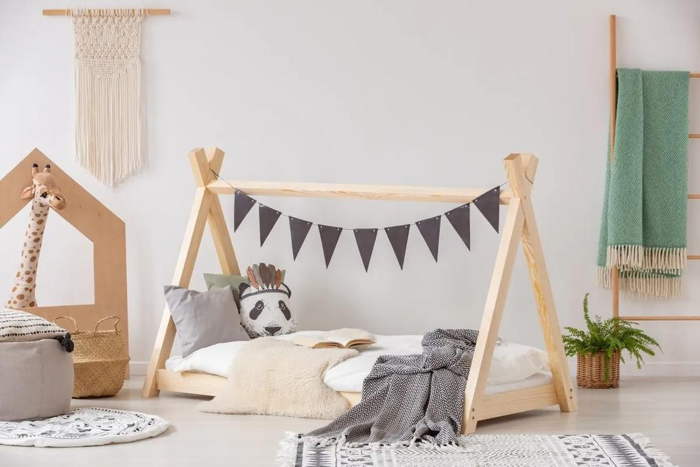 MAXMAX Detská posteľ z masívu teepee 190x90 cm 190x90 pre dievča pre chlapca pre všetkých NIE
