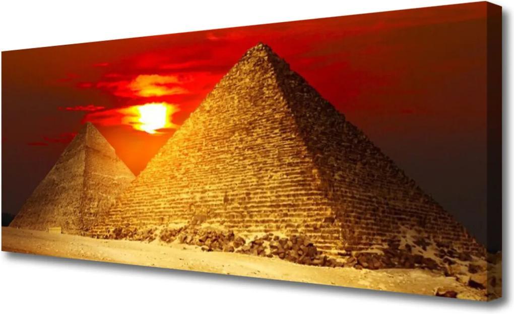 Obraz na plátně Pyramidy architektura