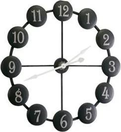 Bighome - Nástenné hodiny ATI - čierna