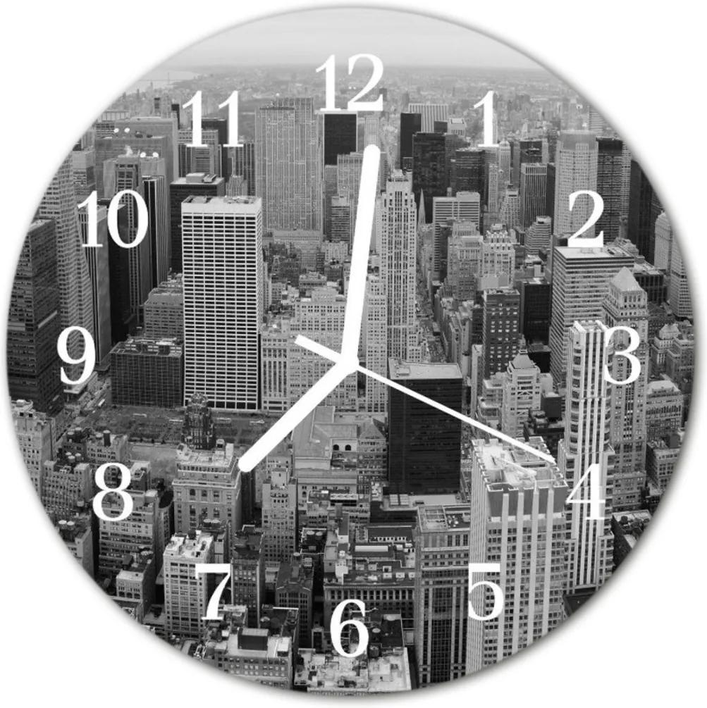 Skleněné hodiny kulaté Městské budovy