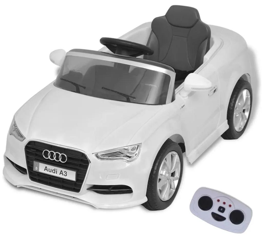 vidaXL Elekktrické detské auto s diaľkovým ovladaním Audi A3, biele